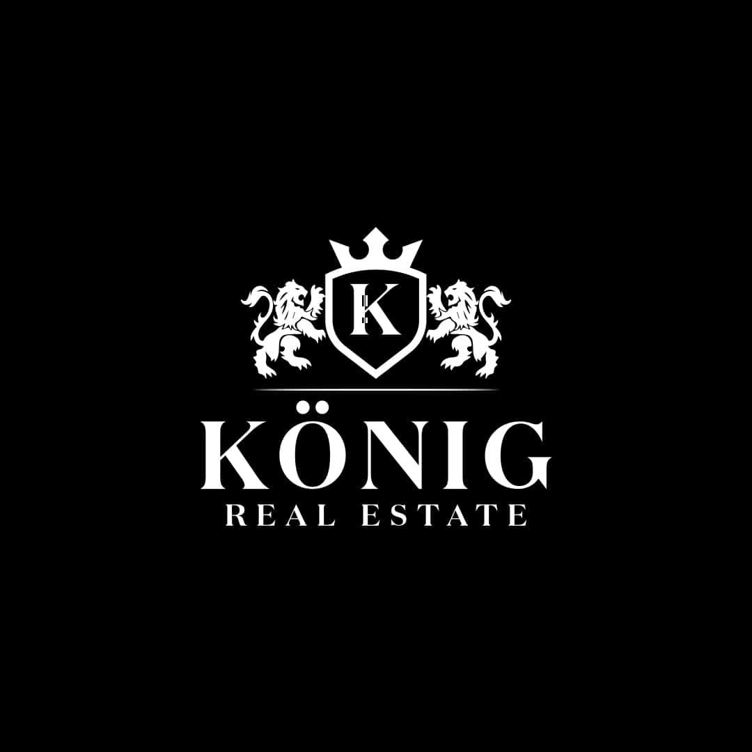 Koenig Real Estate Logo schwarz-weiss